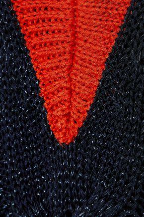 RAG & BONE Emma metallic open-knit sweater