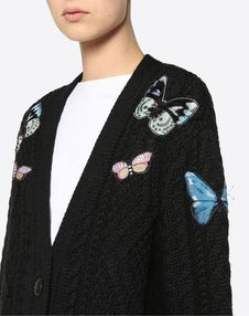 Wool Jumper With Embroidered Butterflies