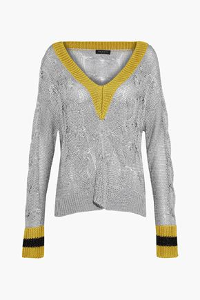 RAG & BONE Emma metallic open-knit sweater