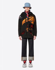 OVERSIZE CARDIGAN WITH TOUCAN EMBROIDERY
