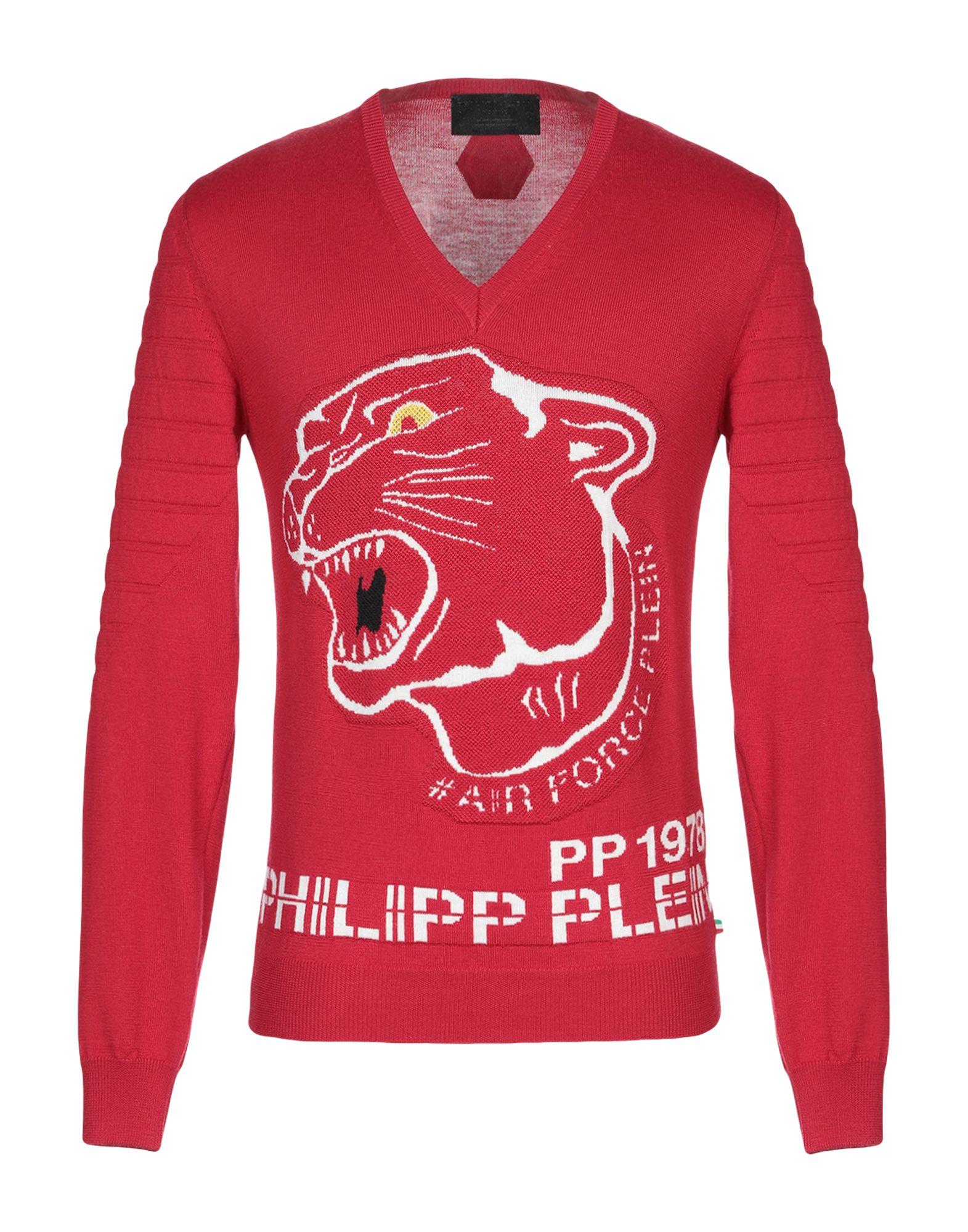 《送料無料》PHILIPP PLEIN メンズ プルオーバー レッド S ウール 100%