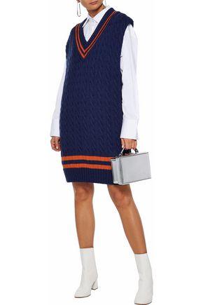 MAISON MARGIELA Oversized cable-knit wool and cotton-blend mini dress