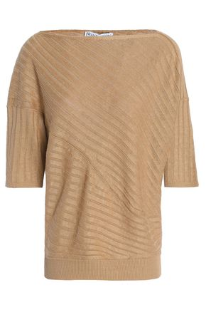 J.W.ANDERSON Color-block ribbed linen sweater