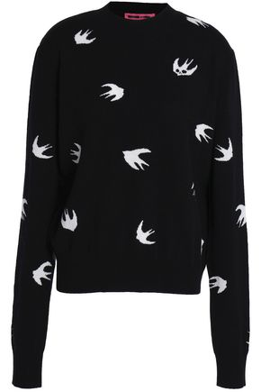 McQ Alexander McQueen Intarsia-knit wool and cashmere-blend sweater