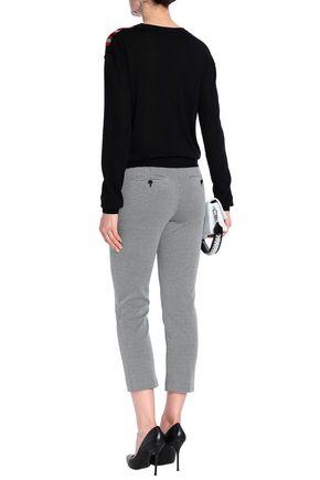 SONIA RYKIEL Intarsia silk and cotton-blend sweater