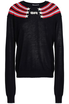 SONIA RYKIEL Intarsia silk and cotton-blend sweater