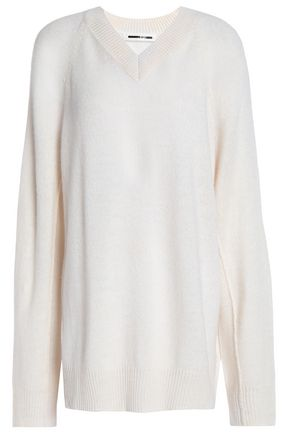 McQ Alexander McQueen Oversized cutout knitted sweater