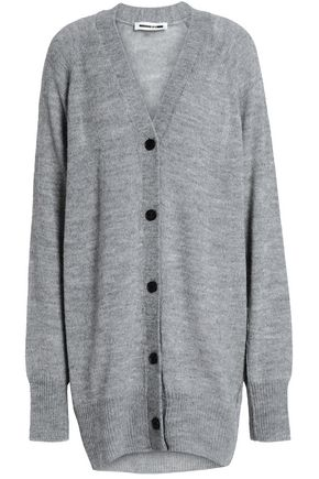 McQ Alexander McQueen Oversized mélange knitted cardigan