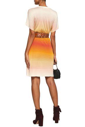 SONIA RYKIEL Dégradé striped silk mini dress