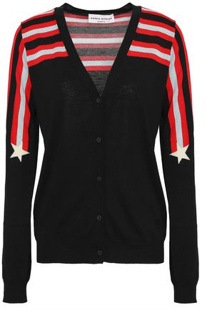 SONIA RYKIEL Intarsia silk and cotton-blend cardigan