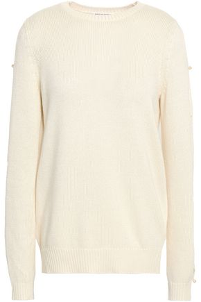 SONIA RYKIEL Button-detailed silk and cotton-blend sweater