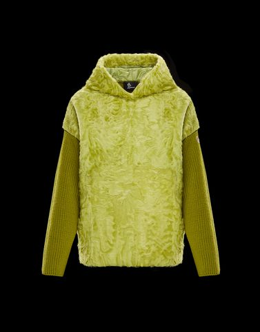 MONCLER PULLOVER MIT PELZBESATZ - Sweaters - damen