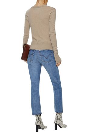 ENZA COSTA Cotton and cashmere-blend top