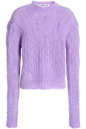 McQ Alexander McQueen Pointelle-knit mohair-blend sweater