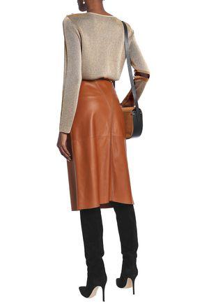 VANESSA SEWARD Metallic jacquard-knit top
