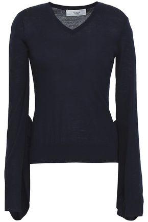 PRINGLE OF SCOTLAND Ruffled merino wool sweater