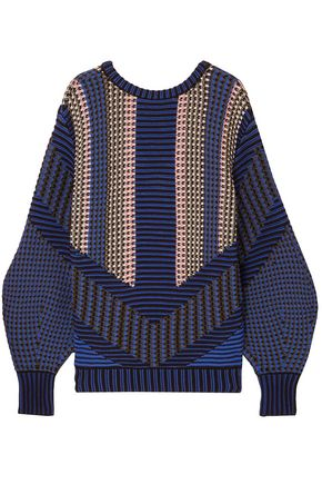 ANCIENT GREEK SANDALS x PETER PILOTTO Cotton-blend jacquard sweater