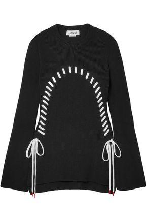 MONSE Lace-up cotton sweater