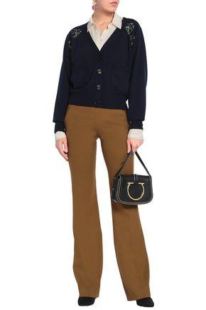 CHLOÉ Lace-paneled wool cardigan