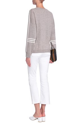 CHARLI Neuville striped wool and cashmere-blend sweater