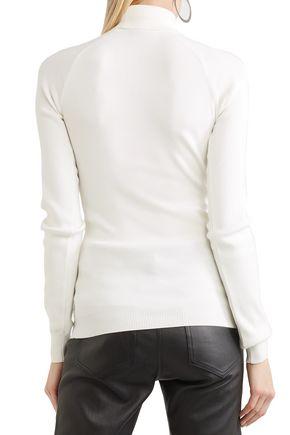 MUGLER Embellished stretch-knit turtleneck sweater