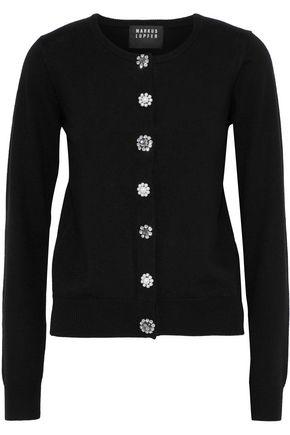 MARKUS LUPFER April button-embellished merino wool cardigan