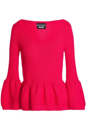 BOUTIQUE MOSCHINO Ribbed-knit wool sweater