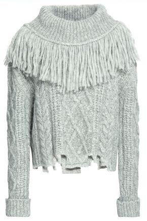 PHILOSOPHY di LORENZO SERAFINI Fringe-trimmed alpaca-blend sweater