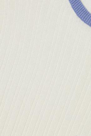 DEREK LAM 10 CROSBY Ribbed cotton-blend T-shirt