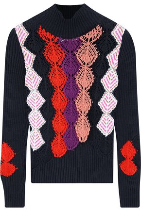 PETER PILOTTO Jacquard cotton-blend turtleneck sweater