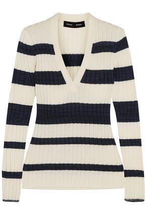 PROENZA SCHOULER Striped wool-blend top