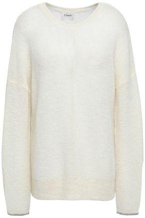 CHARLI Ashlee split-back alpaca-blend sweater