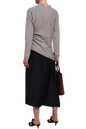 CHARLI Nantes asymmetric wool and cashmere-blend sweater