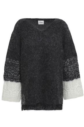 CHARLI Onna two-tone brushed knitted sweater