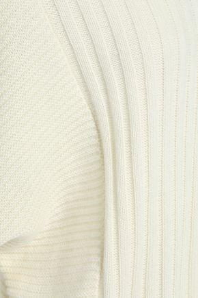 CHARLI Asymmetric ribbed-knit sweater