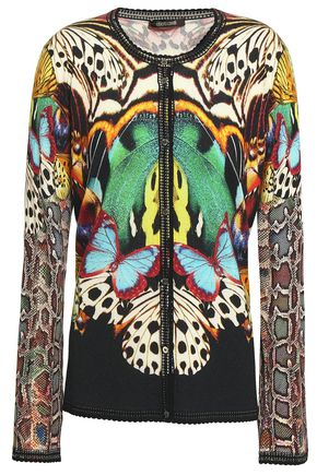 ROBERTO CAVALLI Printed knitted cardigan