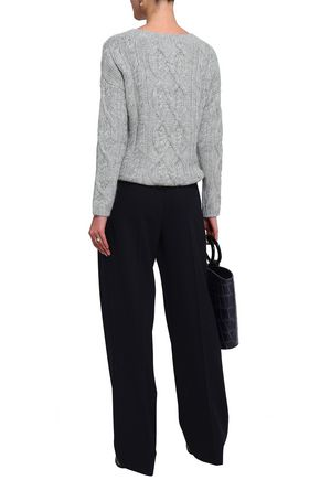 CHARLI Orla cable-knit alpaca-blend sweater