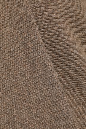 AGNONA Draped mélange cashmere turtleneck sweater