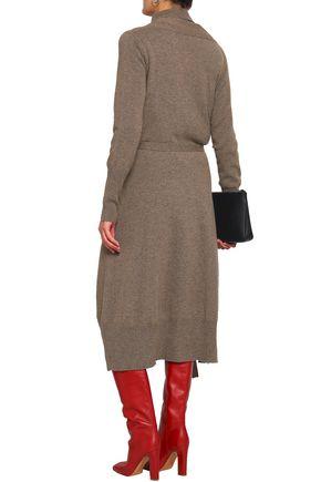 AGNONA Wrap-effect mélange cashmere sweater