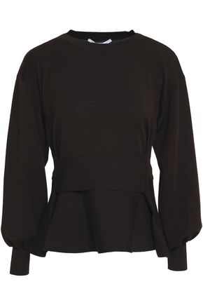 AGNONA Wool peplum sweater