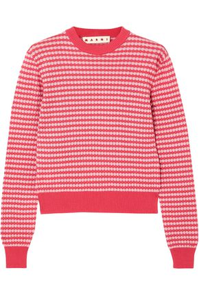 MARNI Jacquard-knit cotton sweater