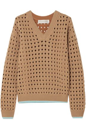 VICTORIA BECKHAM Open-knit wool-blend sweater