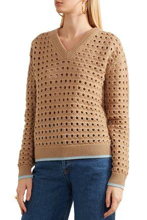 VICTORIA BECKHAM Open-knit wool-blend sweater