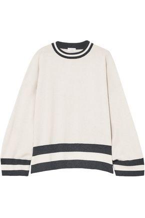 BRUNELLO CUCINELLI Oversized striped cashmere sweater