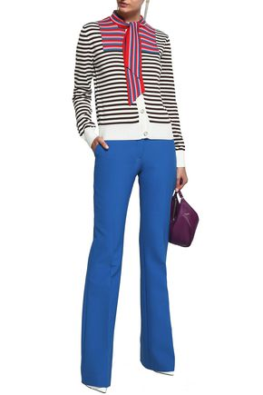 MARCO DE VINCENZO Printed knitted cotton cardigan