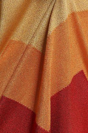 MARCO DE VINCENZO Metallic intarsia-knit sweater