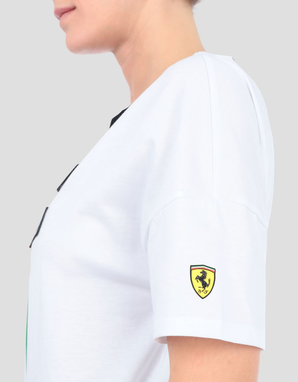 Scuderia Ferrari Online Store - Women's Everywhere Red cotton T-shirt - Short Sleeve T-Shirts