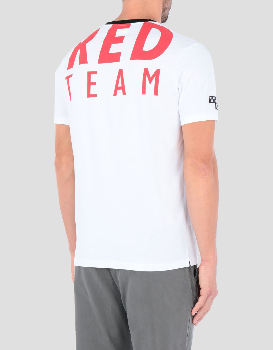 Scuderia Ferrari Online Store - T-shirt uomo Everywhere Red in cotone - T-shirt manica corta