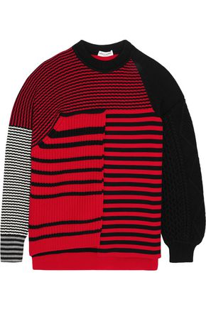 SONIA RYKIEL Paneled striped wool sweater
