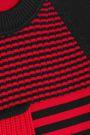 SONIA RYKIEL Paneled striped wool sweater